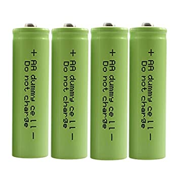 ShockLi Dummy Fake AA Battery AA Battery Setup Shell Placeholder 4 - Pack