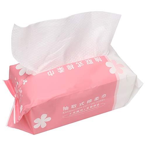 Tissu Nettoyant Jetable Pour Le Visage, Serviette Nettoyante Pour Le Visage En Tissu Non Tissé Tampons De Démaquillage Doux Pour Une Double Utilisation Sèche Et Humide