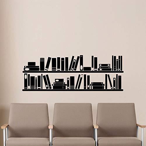Geiqianjiumai Libros Decorativos Biblioteca de Lectura estantería Libros librería Pegatinas de Pared vinilos Adhesivos de Pared 85.5 cm x 30cm