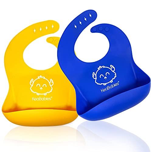Silicone Baby Feeding Bibs - Waterproof, Easy Wipe Silicone Baby Bib (Funtastic)