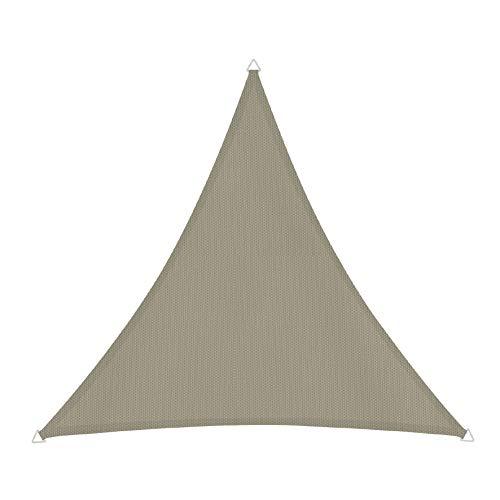 Windhager 10717 Voile d'ombrage Triangulaire 3 x 3 m (Cuisse également), Pare-Soleil pour Jardin et terrasse, résistant aux UV et aux intempéries, Taupe