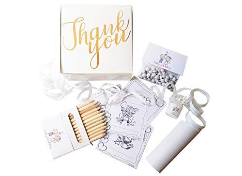 irpot Kit 10 Baby Wedding Bag Fai da Te per Bambini Thank You