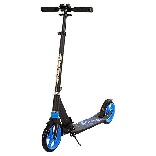 WUDAXIAN Scooter de Manillar Ajustable Scooter Plegable Ligero para desplazamientos y Viajes Sistema de Plegado rápido Scooter