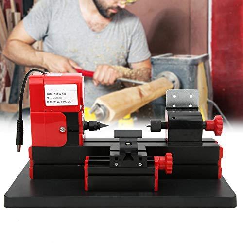Jadpes Mini Macchina utensile in Metallo, Z20003 Mini tornio per Legno Fai-da-Te Tornio ad Alta velocità per tornio Spina Standard 100-240 V