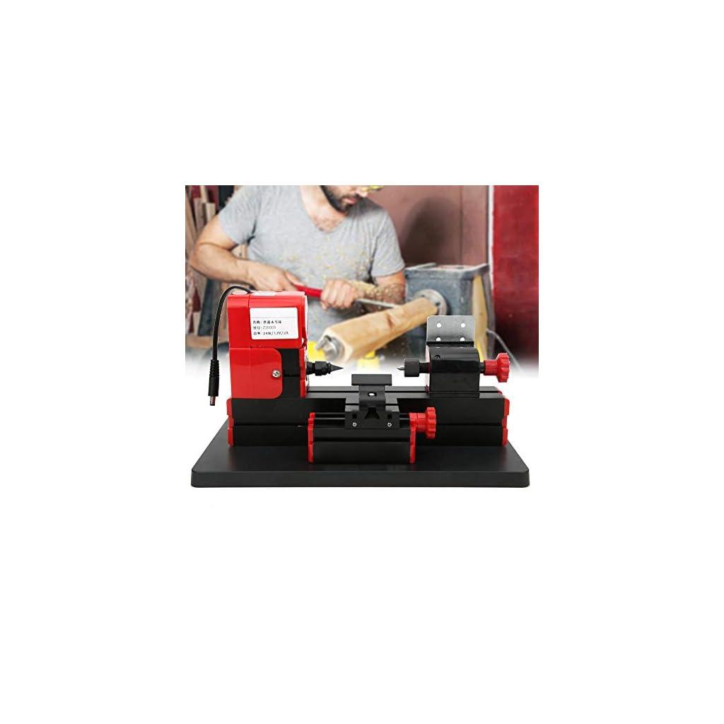 Tour à bois Machine à bois Mini tour à bois Tour à bois Tour à bois,Jadpes Mini machine-outil en métal, Z20003 DIY Mini…