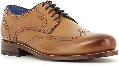 Gordon & Bros Herrenschuhe Levet 5428 Klassischer rahmengenähter Schnürhalbschuh mit Oxford Schnürung im Brogue Stil für Anzug, Business und Freizeit Braun (Torino tan Leather), EU 41
