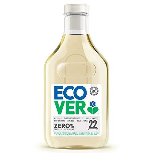Ecover ZERO Woll- und Feinwaschmittel (1 L/22 Waschladungen), Flüssigwaschmittel mit pflanzenbasierten Inhaltsstoffen, Sensitiv Waschmittel für Allergiker und empfindliche Haut