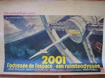 CARTEL CINE: 2001 L'odyssée de l'espace / een ruimteodyssee (Odisea en el espacio)