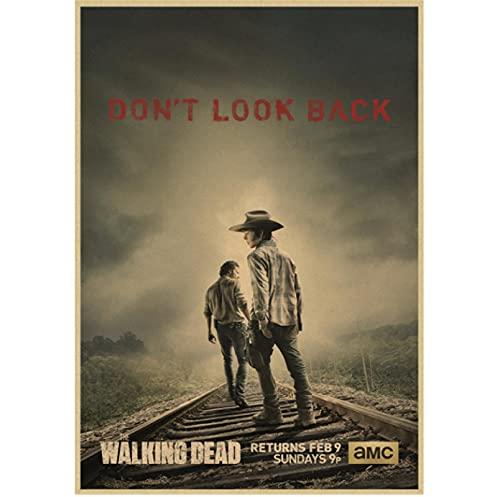 LGYJAL Hd The Walking Dead Staffel 7 Klassisches Filmplakat Für Bar Cafe Wohnzimmer Esszimmer Wanddekoration Gemälde 50X70 cm Q-929