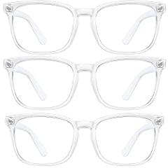 ☮PROTECTION FOR YOUR EYES - Alleviates visual fatigue and discomfort from long periods of web surfing, gaming and working under fluorescent lights with UV400 protection and glare reduction. ☮Eliminate fatigue - Blue Light Blocking Glasses can 100% ef...
