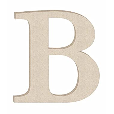 18  Times Unfinished Wood Letter Monogram B (Sizes 12 -30 )