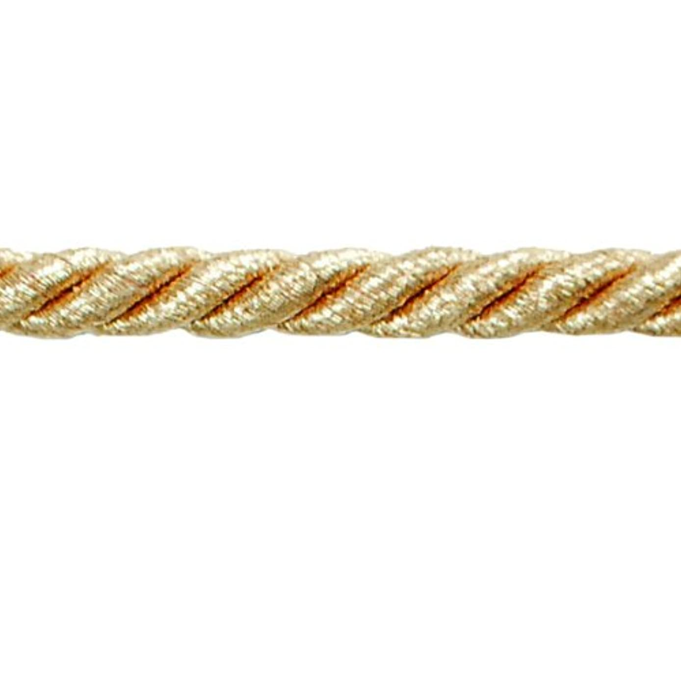 Expo International Noel 1/4-Inch Twisted Cord Trim, 20-Yard, Metallic Gold
