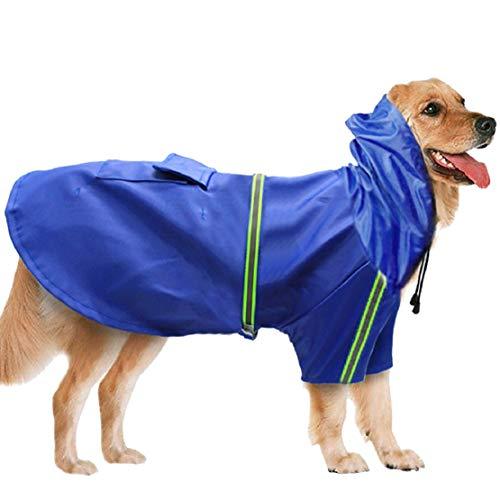 Bluelucon nieuwe lente zomerhond kleedt regenjas huisdier hondenregenjas huisdier hondenkleding van de grote hond waterdicht in de buitenjas jas