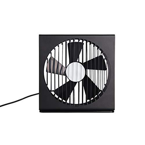 FANS Wenig Lärm Ultra-Thin-Schreibtisch-Ventilator, bewegliche Falte Circulation Rectangle Männer Einfache USB-Ventilator Quiet Wire-gesteuerte mechanische Taste Weiches Wind-Erlebnis