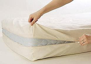 Excellent 100% Cotton Fleetwood Cotton Mattress Cover, Twin Size, Whit Zipper