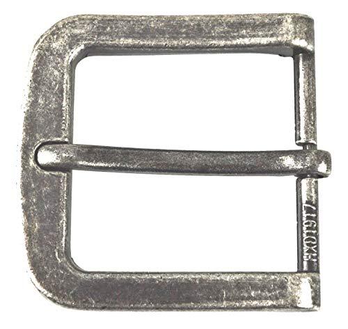 flevado Gürtelschnalle Vintage antik Buckle 40 mm Metall Dornschließe für Gürtel mit 4 cm Breite M 4