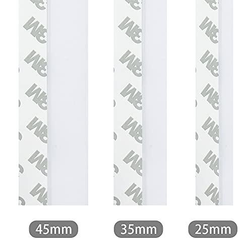 2 rollos Tira de Sellado, Burlete puerta, Burlete bajo Puerta Burlete Autoadhesivo de Goma de Silicona, Anti-polvo/anti-ruido/anti-bug de sellado a prueba, Transparente(5m/25mm)