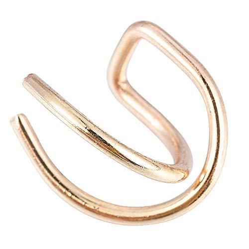 Arete Simple Cruz Doble Clip Pendientes Mujer Moda Moda Niñas Simple Pendiente Joyas Oro