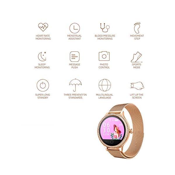 IP68 Fitness Tracker Watch – Smart Watch Bluetooth Podómetro Contador de Pasos Pulsera Inteligente Relojes para Mujeres… 4