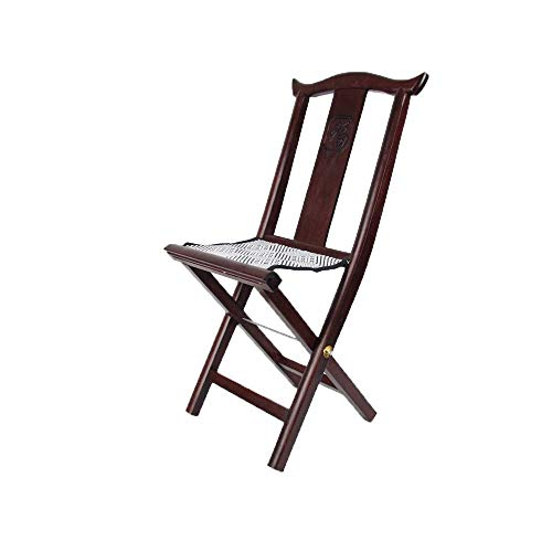 Rosewood Solid Wood Stool, Shoe Bench Folding Chair Fishing Chair Small Bench for Outdoor, Indoor
