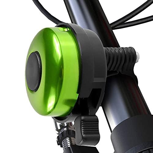 BUMSIEMO Campana de bicicleta de aluminio estilo 2 verde que puede ser utilizado por hombres y mujeres
