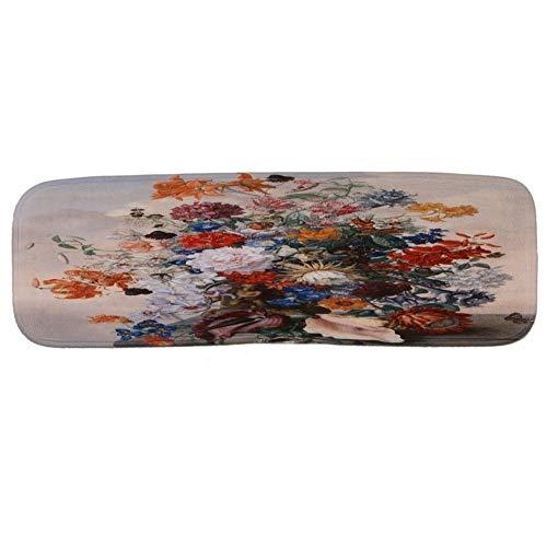 Awningcranks Treppenteppiche Selbstklebend Rutschhemmend Treppenstufen-Teppich rutschfeste Fußmatte Treppen Mat Set Von 5/10/15 Blumiges Muster 1007 (Color : A(70x22cm), Size : 10pcs)