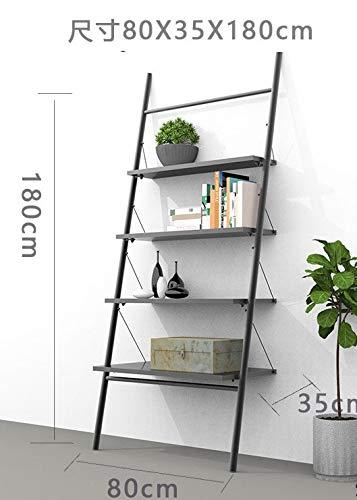 TONGS Schmiedeeisen Garderobe Einfachen Leitergestell Stock Schlafzimmer Dekorative Schmiedeeisen Handtuchhalter Trapez Regale Kreative Regale / A4 / 80x35x180c