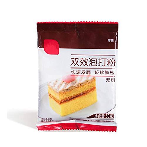 Koehope 50g x 1 zak dubbelwerkende bakpoeder gedempte broodcake van zuurdeeg optillen