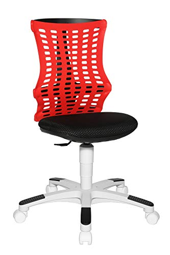 Topstar S'Neaker Elasto - Silla giratoria Infantil (Respaldo elástico), Color Rojo, Negro y Blanco