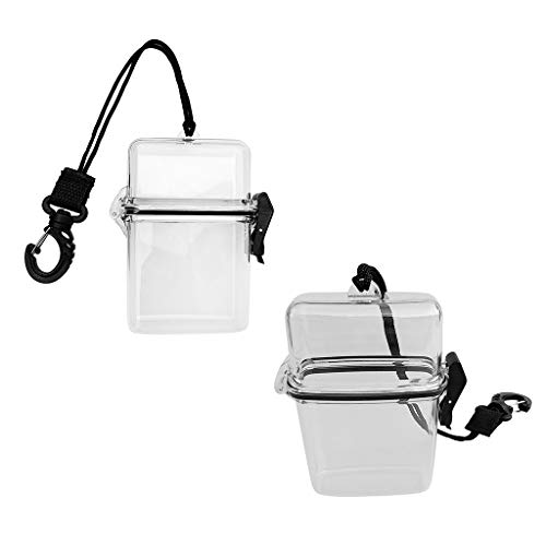 koolsoo Pack of 2 Waterproof Scuba Diving Dry Box Case Containers, Floating,