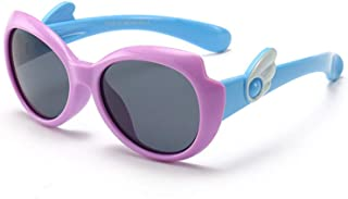 Suertree Unisex Children Butterfly Polarized Sunglasses Kids UV Protection Rubber Flexible Shades Eyewear for Girls Boys Age 3-10 Lightweight Flexible Sunglasses