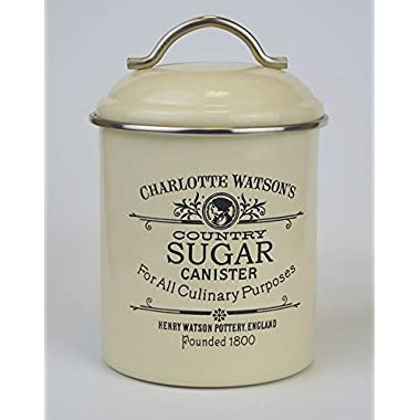 Charlotte Watson Enamel Ware Sugar Tin Canister 67420