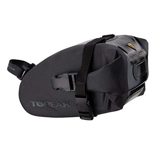 Topeak Satteltasche Wedge DryBag Strap Mount, Black, Medium (18.5 x 11.5 x 11 cm, 1l)