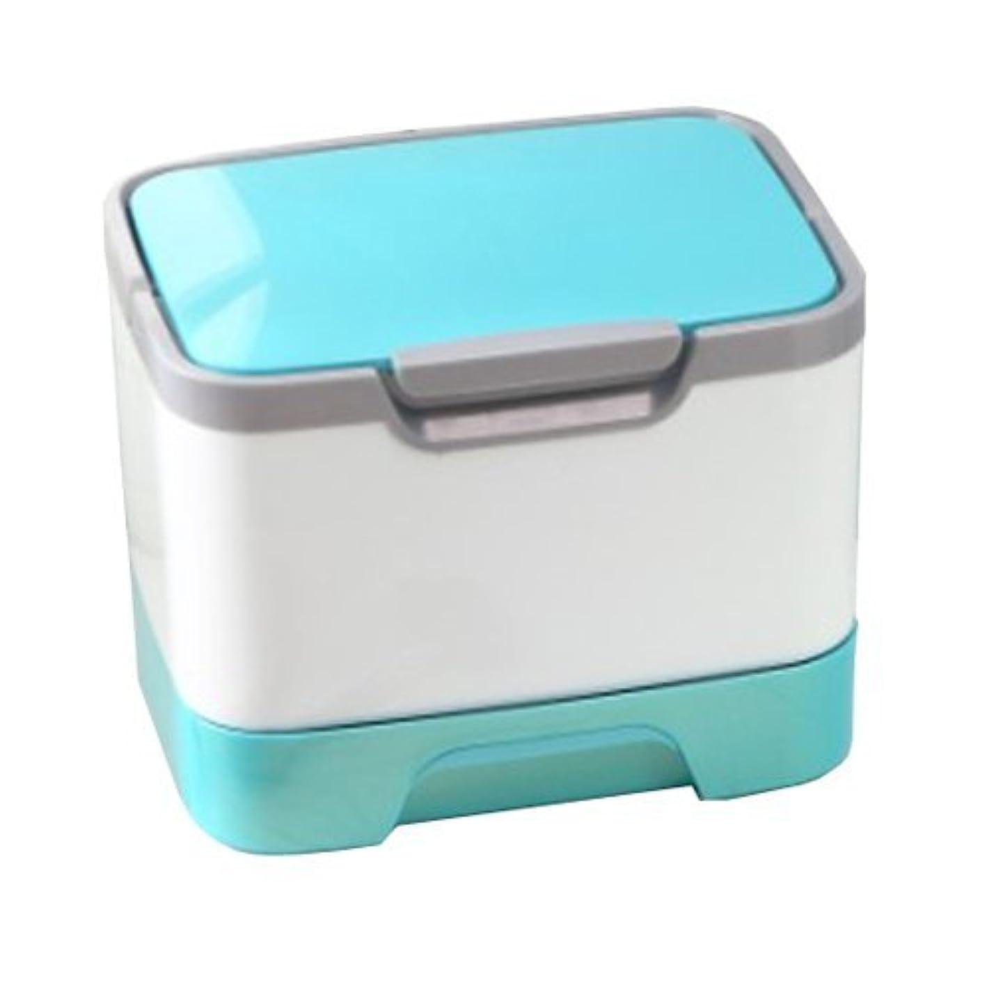 シンポジウム長方形立ち向かうメイクボックス 大容量 かわいい 鏡付き プロも納得 コスメの収納に (ピンク、ブルー、グリーン)