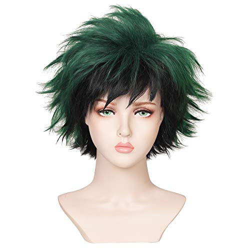 ColorGround Short Fluffy Anime Cosplay Wig