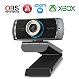Webcam with Microphone for Desktop, Hd Webcam 1080p, USB Webcam Computer Camera for Zoom OBS Xbox Xsplit Skype and Facebook, Streaming Web Cameras for PC, Laptop, Desktop, MAC