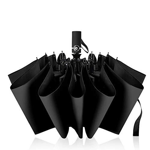 折りたたみ傘 ワンタッチ自動開閉 メンズ傘 頑丈な10骨 118cm Teflonc超撥水加工 210T高強度グラスファイバー 耐強風