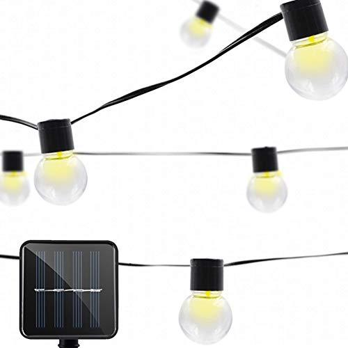 La Secuencia Solar Luces Led Solares 5.3m 20 Globe Cadena Luces Impermeable Al Aire Libre Luces De Cadena De Bolas De Cristal Para El Patio De Jardín Del Patio Partido Bistro Gazebo Pergola