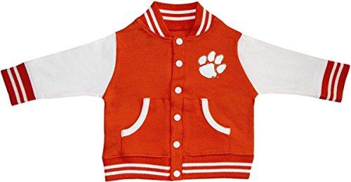 Clemson University Tiger Paw Varsity Jacket Orange