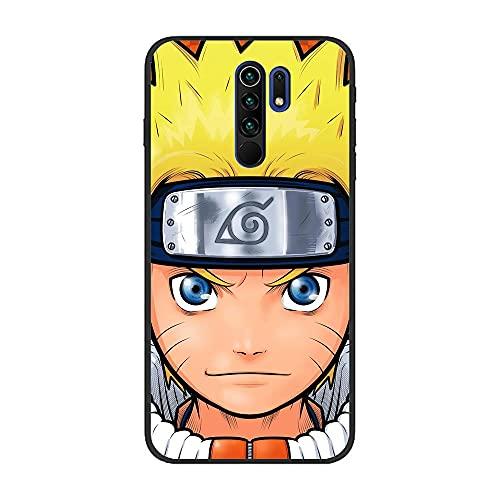 SweetST Carcasa de TPU ultra fina para XIAOMI Redmi 9-Anime-Naruto Uzumaki-Kakashi 0