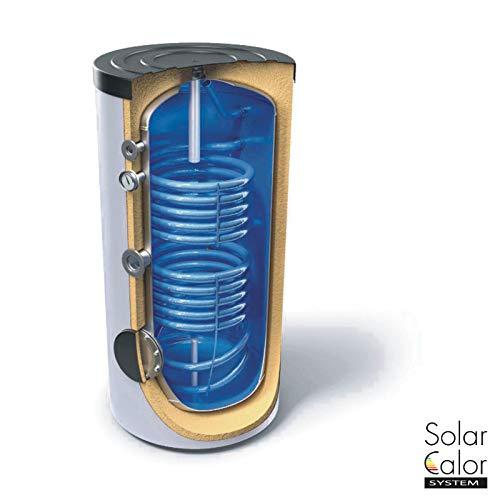Accumulo Acqua Calda Sanitaria 200 L Doppio Serpentino Solare Termico Caldaia