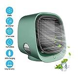 ERTYU Aire Acondicionado Personal 4 En 1 Mini Personal Air Cooler, Purificador, Humidificador Y Luz Nocturna, 3 Velocidades,Mute Spara El Hogar, La OficinaGreen