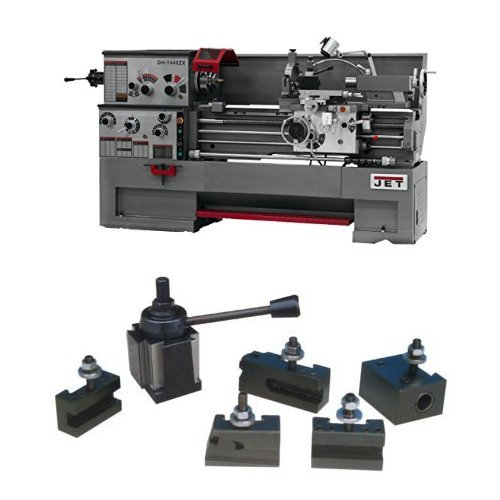 Best Price JET GH-1440ZX-TAK Lathe with Taper Attachment Installed with 300 Series Quick Change Tool...