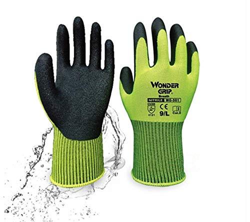 Smartrich bambù, guanti da lavoro, universale durevole antiscivolo sostenibile Bamboo rayon Fiber guanti da lavoro per giardinaggio, pesca (1coppia)