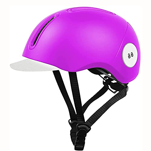 WENZHE Casco de Bicicleta para Bicicletas Adultas Casco de Bicicleta con Visera removible y Orificio de Bloqueo antirrobo Ajustable Ligero Ligero Casco Urbano Casco Casual para jóvenes Mujeres