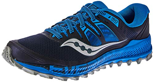 Saucony Men's Peregrine ISO Trail Running Shoe, Blue/Navy, 7 M US