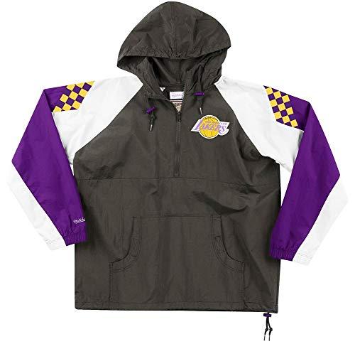 Mitchell & Ness Los Angeles Lakers Half Zip Anorak Black Jacket Windbreaker NBA HWC Jacke