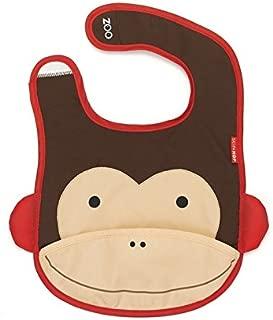 Skip Hop Zoo Little Kid and Toddler Tuck-Away Water Resistant Baby Bib, Multi Marshall Monkey