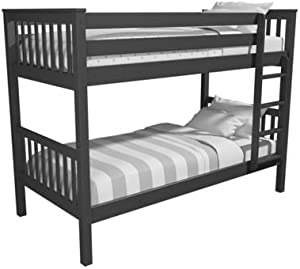 Oxford Single Bunk Bed in Anthracite Grey