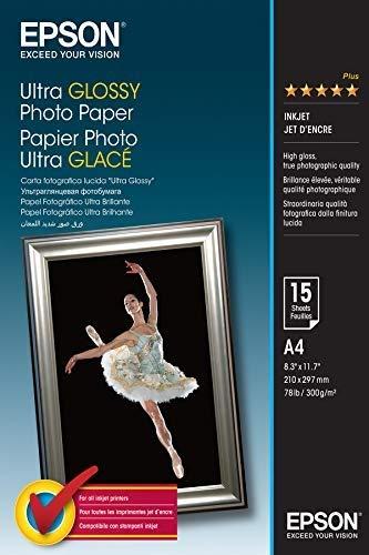 Epson C13S041927 Ultra glossy photo paper inkjet 300g/m2 A4 15 Blatt Pack